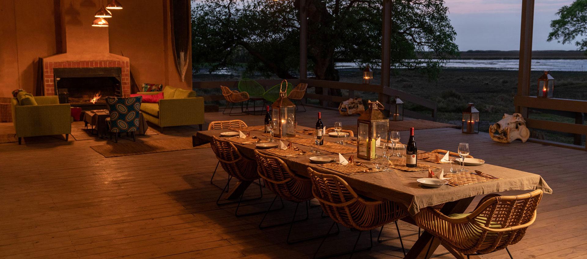 Dinner - Shoebill Island Camp