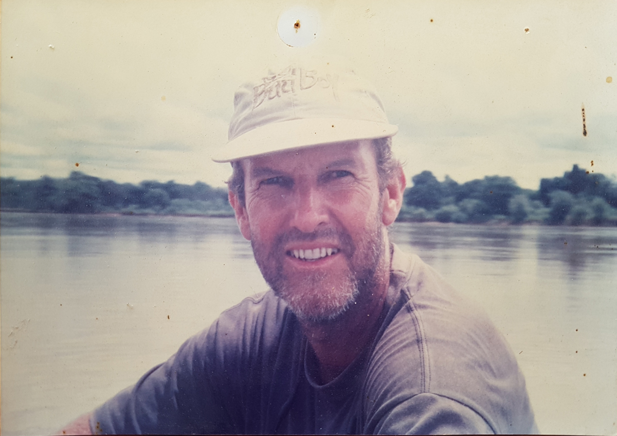 A portrait of Bryan Jackson in North Luangwa National Park, 1995