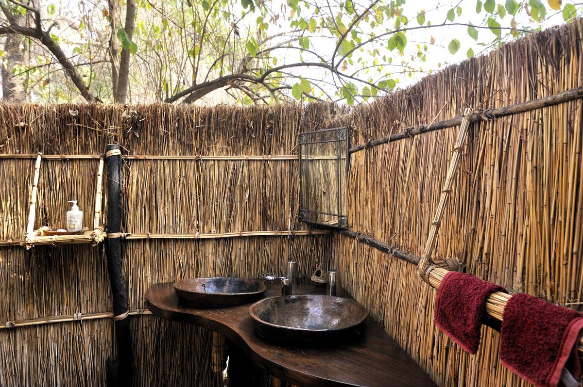 Tafika outdoor bathroom (but covered toilet)