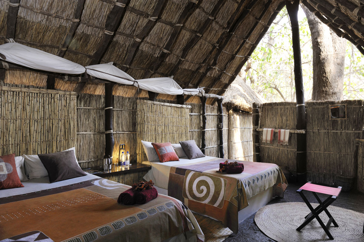 Tafika's twin chalet (with two double beds)