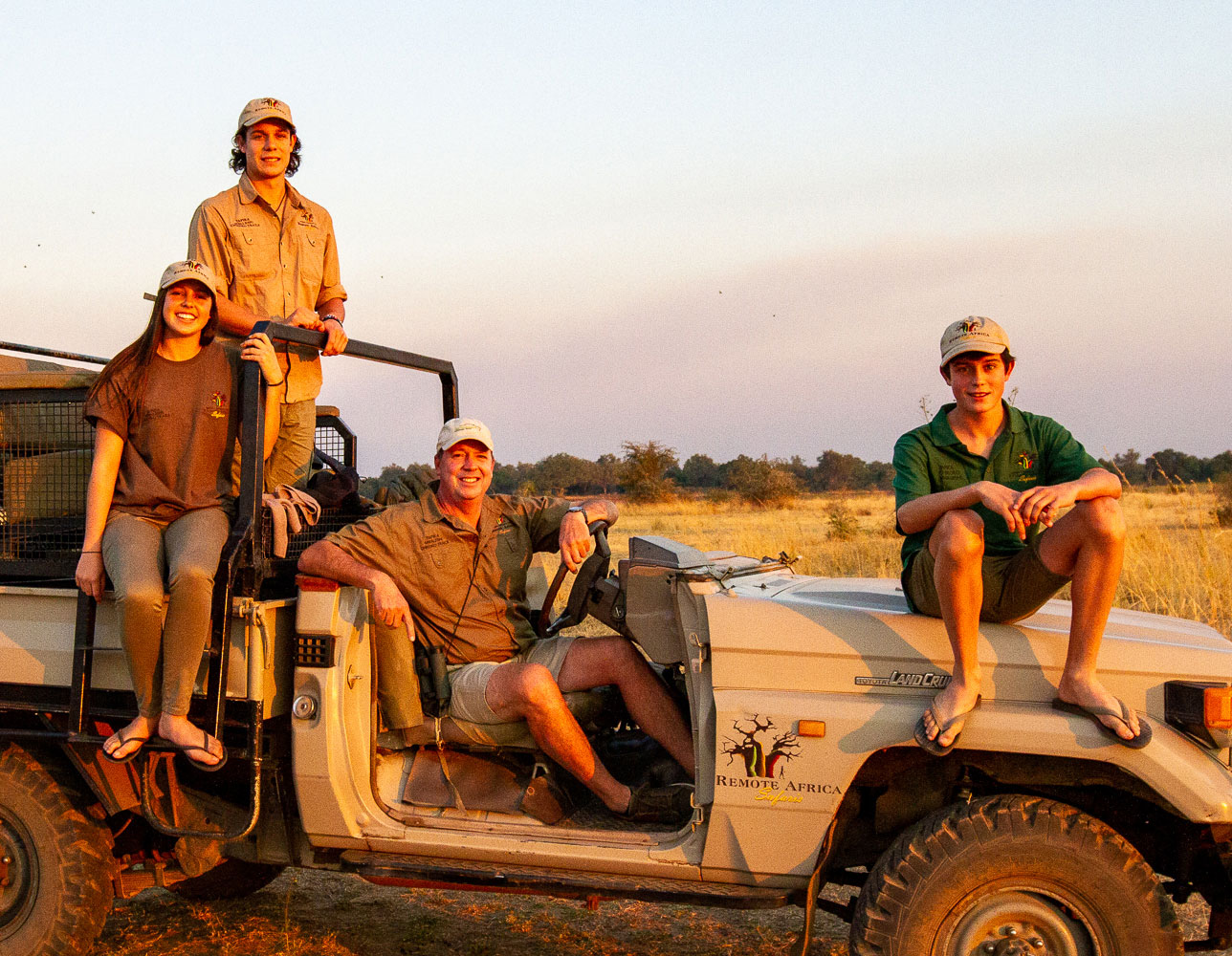Mark McAdam, John's long standing friend, joins the Remote Africa Safaris family as investor and director along with his children, William, Jack and Lucy.